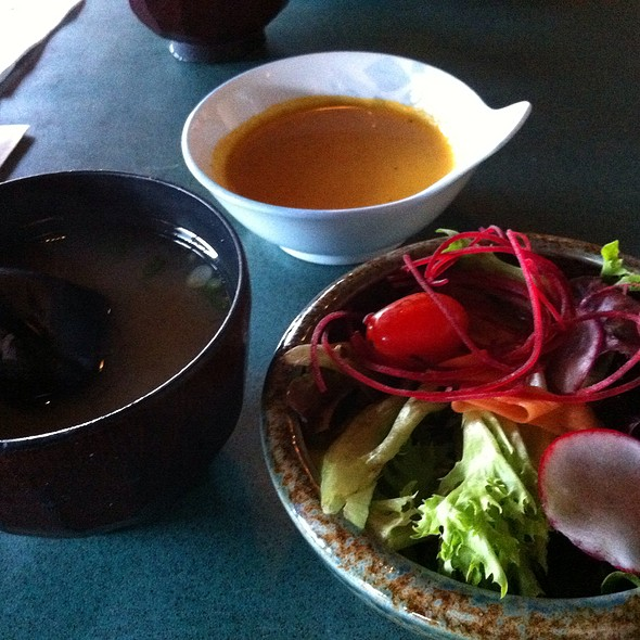 Salad And Miso Soup  @ Fuji Ya