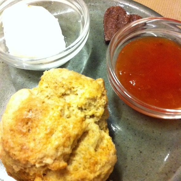 Maple Syrup Scone With Butter & Apricot Jam @ Rose Bakery