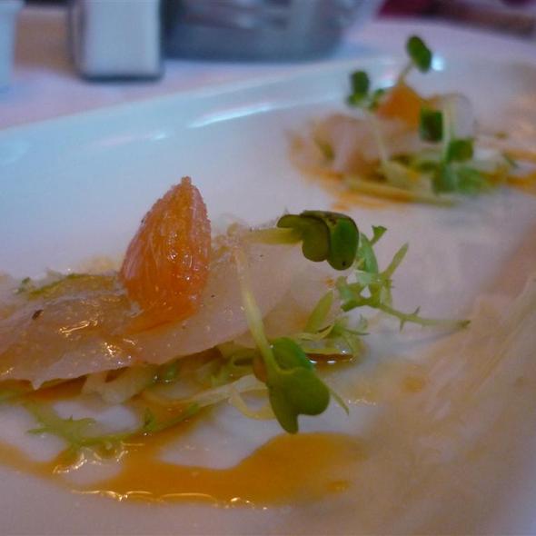 Long Island Fluke Sashimi @ Blue Water Grill