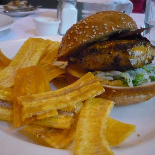 Chipotle Lime Marinated Mahi Mahi Sandwich @ Blue Water Grill