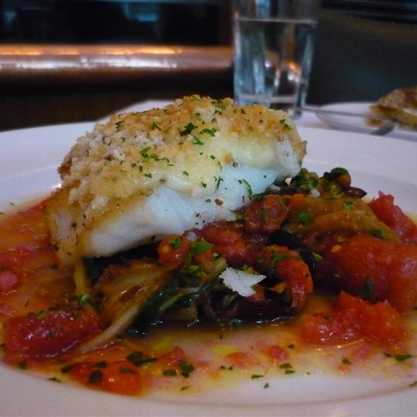 Sicilian Style Baked Gooseberry Cod @ Blue Water Grill