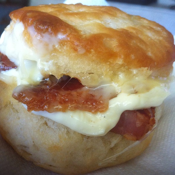 Ham Biscuit With Monterey Jack Cheese @ Casa Olive
