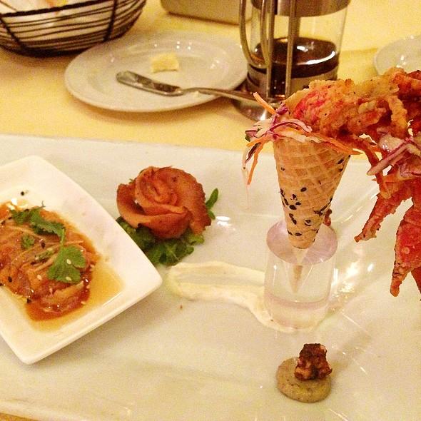 Duo of Salmon with Crawfish - Mark's American Cuisine, Houston, TX