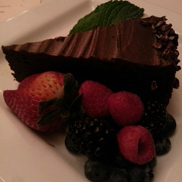 flourless chocolate cake - Cascades - The Stanley Hotel, Estes Park, CO