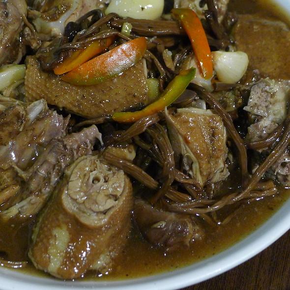 Braised Duck with Agrocybe Aegerita Mushroom @ Xu & Liu Chinese Restaurant