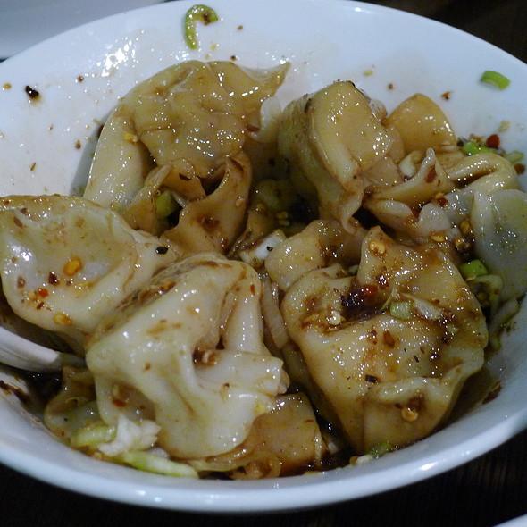 Mince Chicken Dumpling with Spicy Chilli Sauce @ Xu & Liu Chinese Restaurant