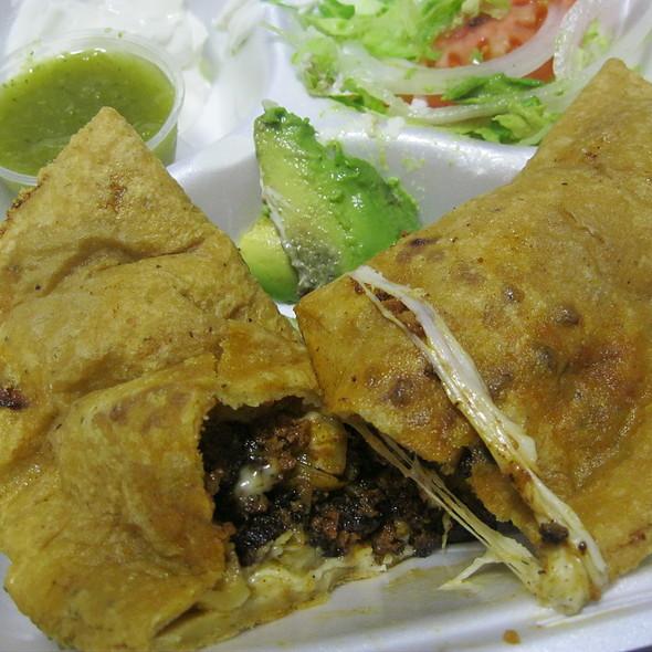 Chorizo Con Papas Quesadilla @ La Cabana Restaurant