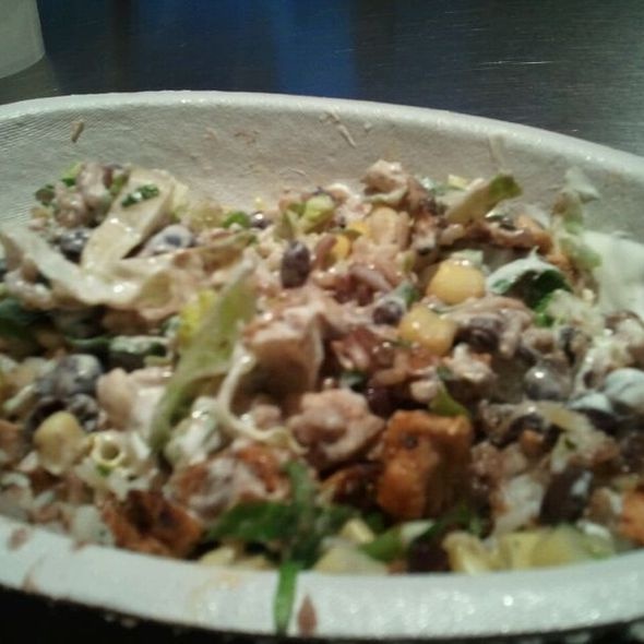 Chicken Burrito Bowl @ Chipotle Mexican Grill - Broadway
