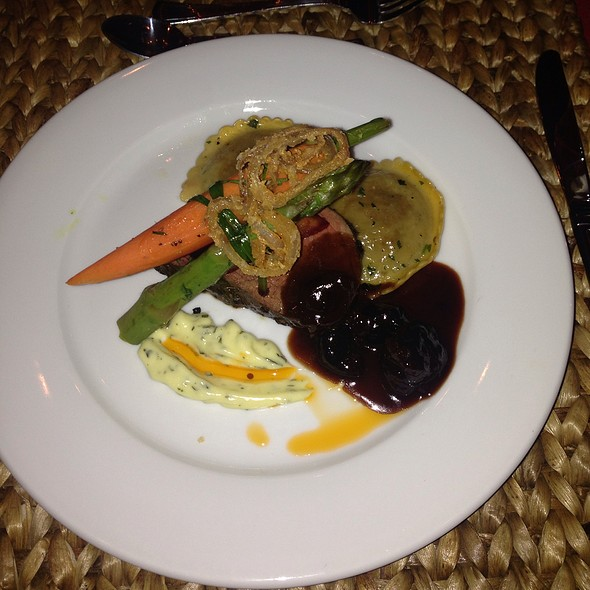 Herb Crusted Oven Roasted Beef Tenderloin With Beef Cheek Ravioli @ Coast Catering