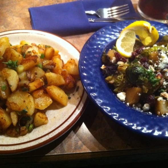 Veggie Kartoffel And Roasted Brussel Sprouts @ Berlin Inn Restaurant & Bakery