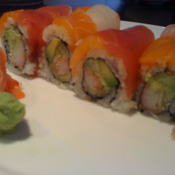 Rainbow Sushi Roll @ AKI Japanese Restaurant