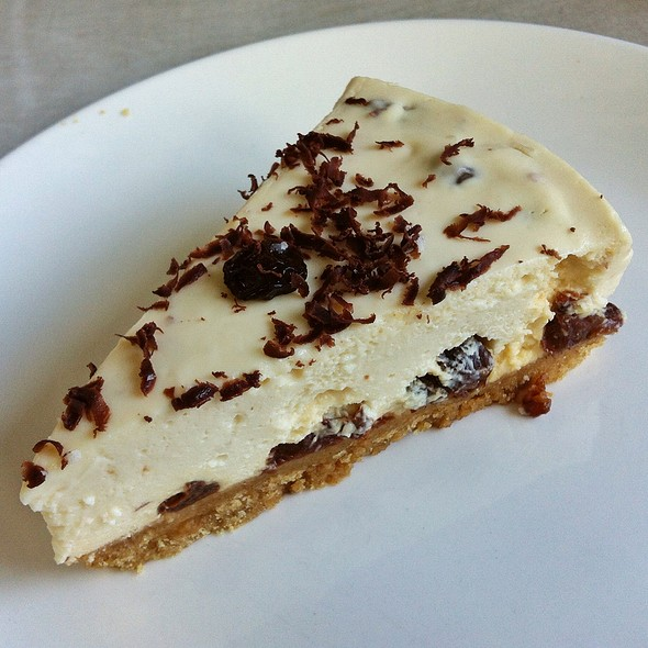 Rum And Raisin Cheesecake at Three Little Pigs & The Big Bad Wolf