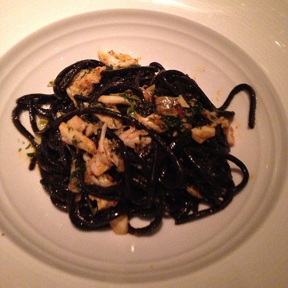 Crab With Squid Ink Pasta