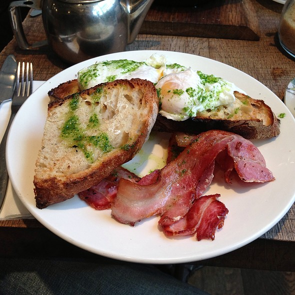 Poached Eggs With Bacon In Bread @ Foxcroft and Ginger