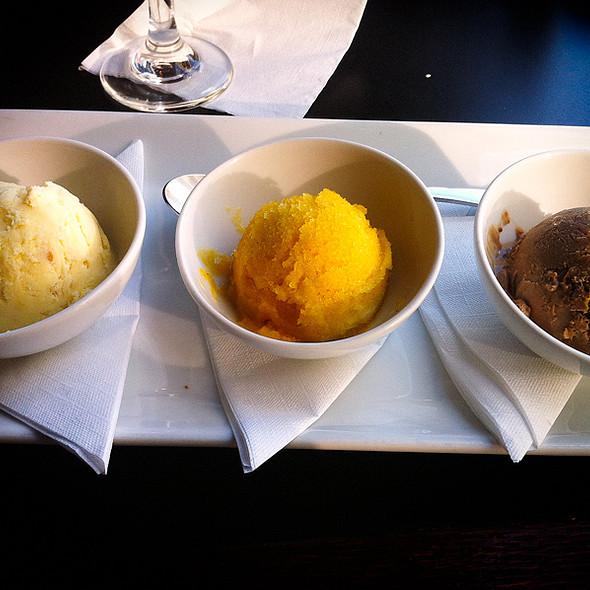 Trio of Ice Creams and Sorbet - The Pot Au Feu, El Paso, TX