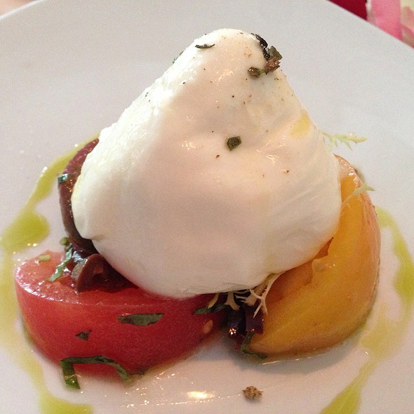 Burrata With Heirloom Tomatoes - Il Cielo Gardens Restaurant & Bar, Beverly Hills, CA