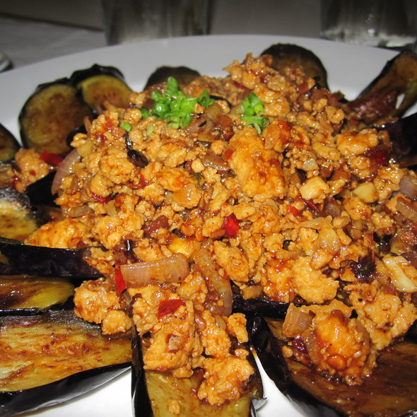 Szechuan Eggplant with Chicken Bits @ Big Plate