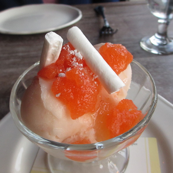 Grapefruit sorbetti, dry meringue, cinnamon, aperol granita - Balena Italian - Temporarily Closed, Chicago, IL