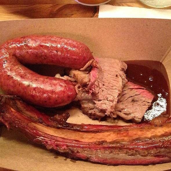 1/4 Chicken (dark), Brisket (moist), Pork Spare Rib - Hill Country Barbecue Market - DC, Washington, DC