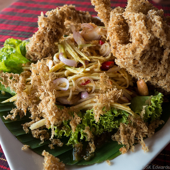 Yum Pla Dook Foo (Thai Catfish Salad) @ Pak Nam Seafood