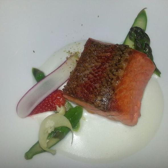 Salmon With Buttermilk Emulsion  - Little Fish, Philadelphia, PA
