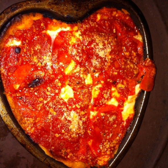 Pepperoni Heart-Shaped Deep Dish Pizza @ Lou Malnati's Pizzeria