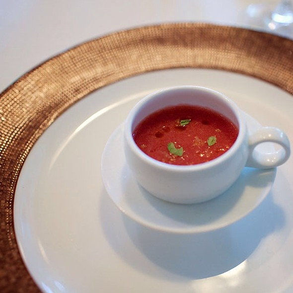 Chilled Strawberry Soup - Bedford Village Inn, Bedford, NH