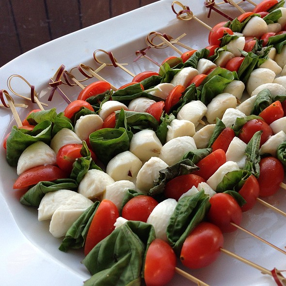 Caprese Skewer Display