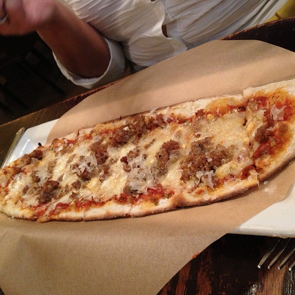 Sausage And Truffle Flatbread - Cafe Firenze, Moorpark, CA