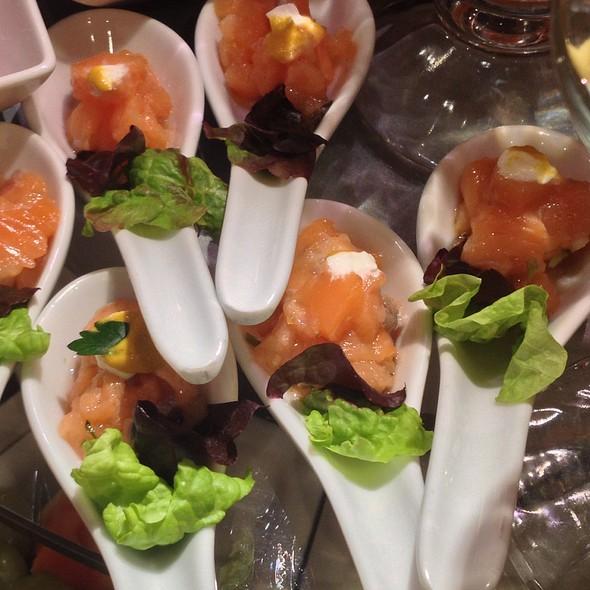 Amuse Bouche of Smoked Salmon @ Holland America Cruise Ship