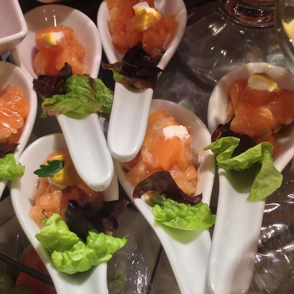 Amuse Bouche of Smoked Salmon @ Holland America Cruise Ship