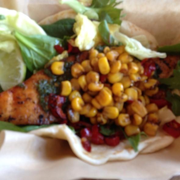 Chimichurri Salmon Taco