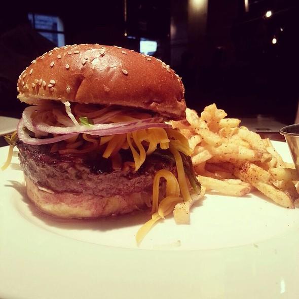 The Green Chili Cheeseburger - HUB 51, Chicago, IL