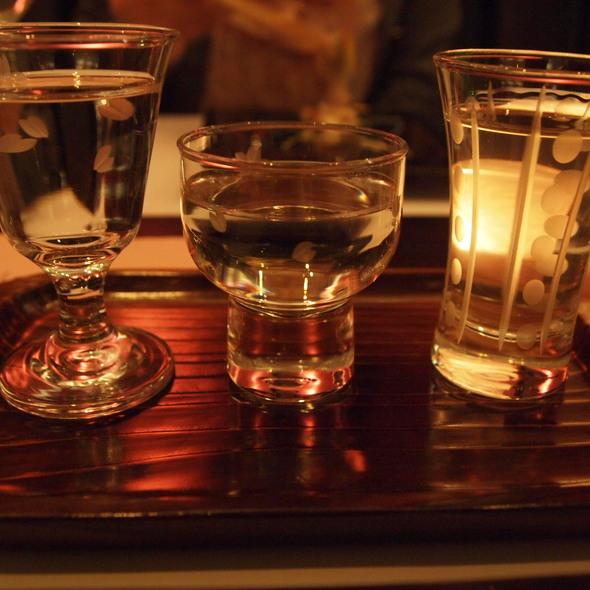 sake tasting set @ Kaiseki Sakura