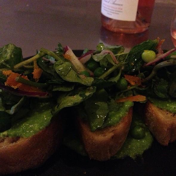 Spring Pea, Mint, Radish ... Crostini @ Avec Restaurant