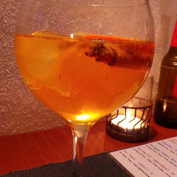 Saffron Gin, Tonic, Orange, Cinnamon @ The Village Cafe
