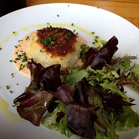 Risotto Cake - ZZest Cafe & Bar, Rochester, MN