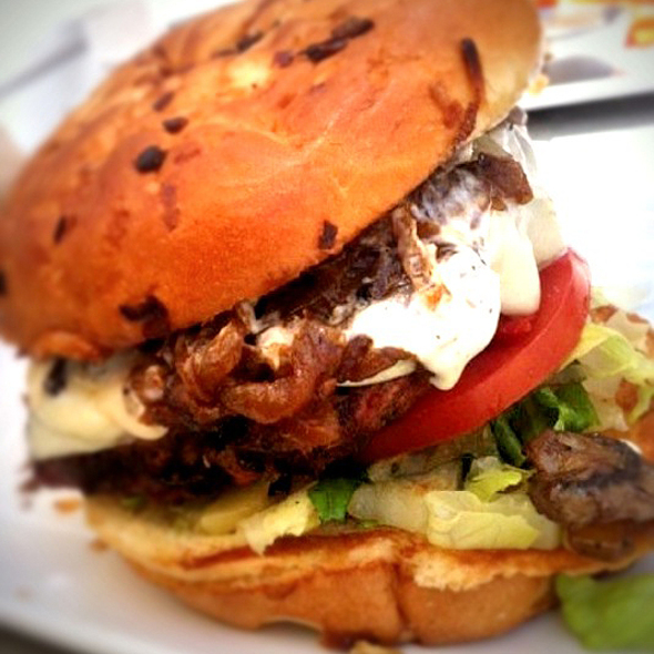Turkey Burger @ The Counter Santana Row