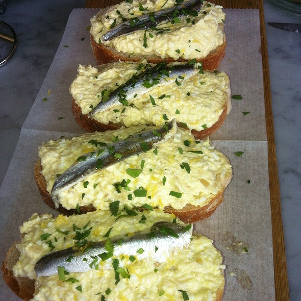 Egg Salad With White Anchovy @ Olio
