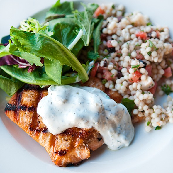 Mediterranean Salmon - George's Neighborhood Grill, Indianapolis, IN