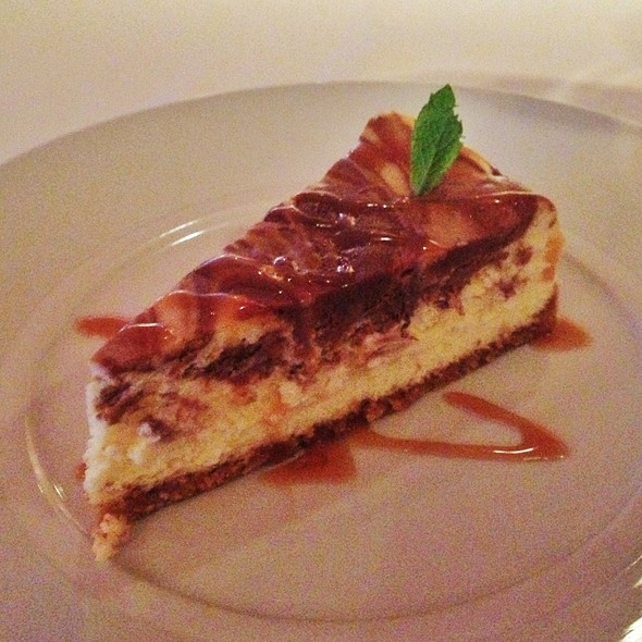 Salted caramel cheesecake - The Rattlesnake Club, Detroit, MI