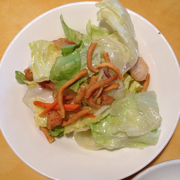 Dinner For One -Chinese Chicken Salad @ Chefs Chinese Food