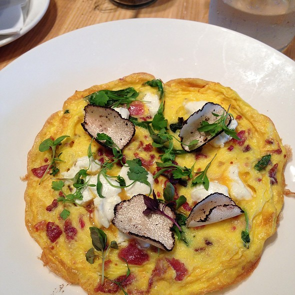 Bacon, Chevre, Ramp Frittata With Summer Truffle @ The Meeting House