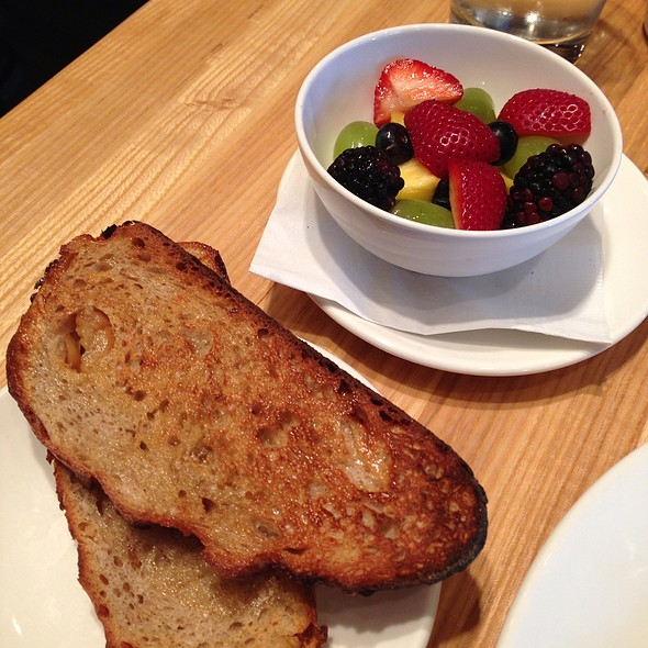 Side Of Fruit And Asiago Toast @ The Meeting House