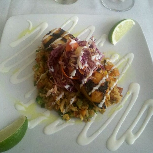 Miso Glazed Grilled Escolar With Fried Rice And Asian Slaw @ On the Square