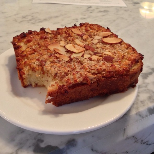 Bostok (Brioche Dipped In Sugared Rose Water With Honeyed Almonds Chopped And Spread On Top). - The Bachelor Farmer, Minneapolis, MN
