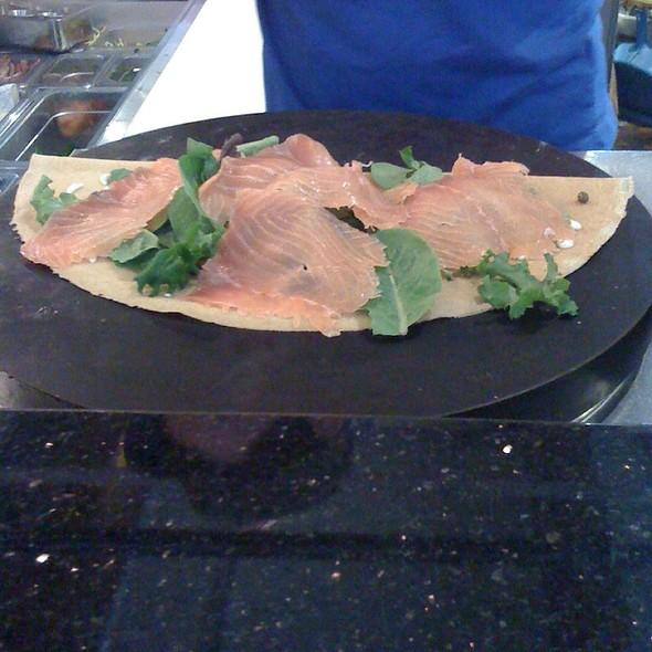 Savory Smoked Salmon Crepe