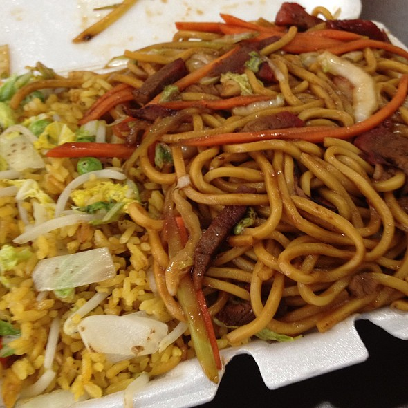 Roast Pork Lo Mein With Fried Rice