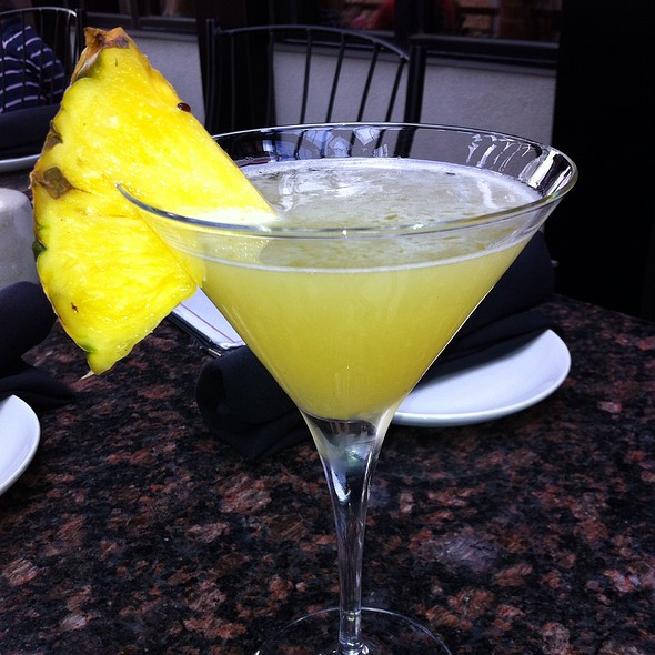 Double Black Diamond Pineapple Martini @ Firebirds Wood Fired Grill