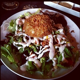 Dinner Salad With Crab Cake
